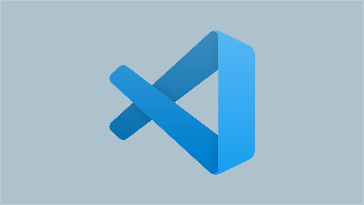 Graphic showing the Visual Studio Code icon