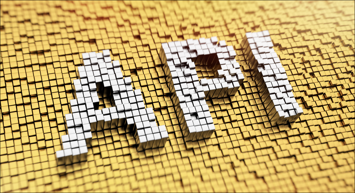 the word api written in cubes