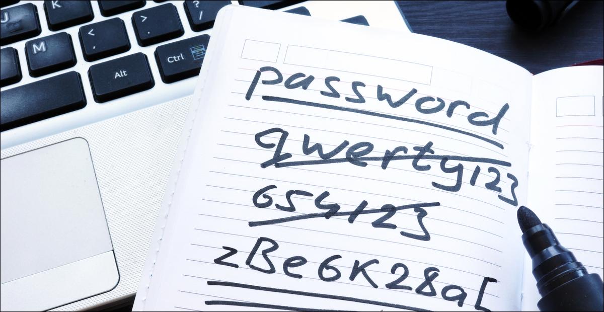 passwords on paper