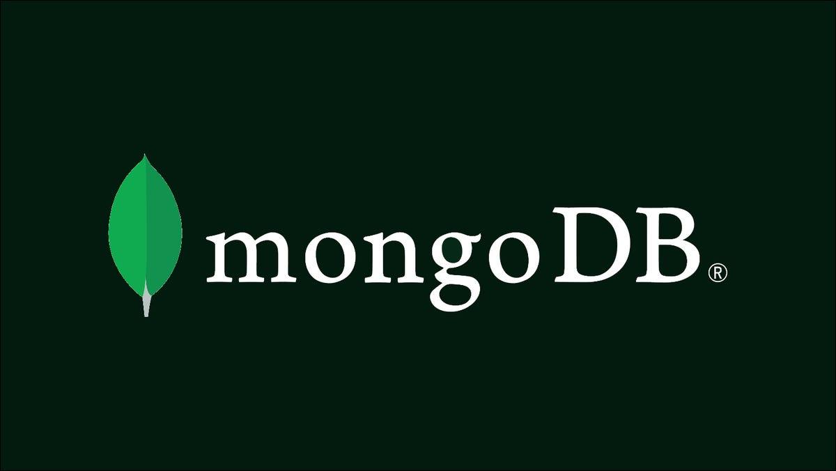 Illustration showing the MongoDB logo