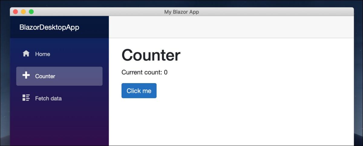You can use Blazor on desktop.
