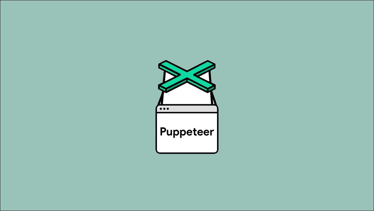 Illustration showing the Puppeteer logoa
