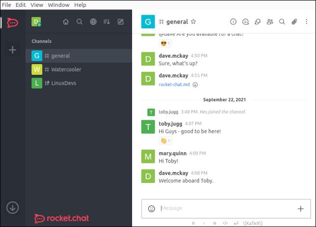 Rocket.Chat Linux desktop client