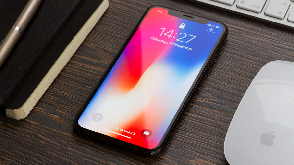 Photo of an iPhone on a desk