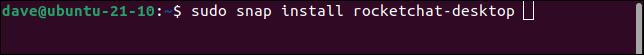 Installing the rocket.chat desktop client in Linux