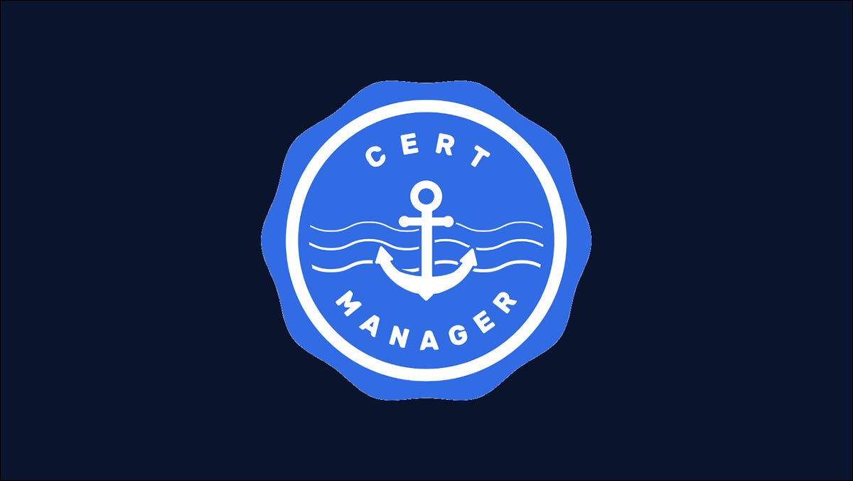 Graphic showing the Cert-Manager logo