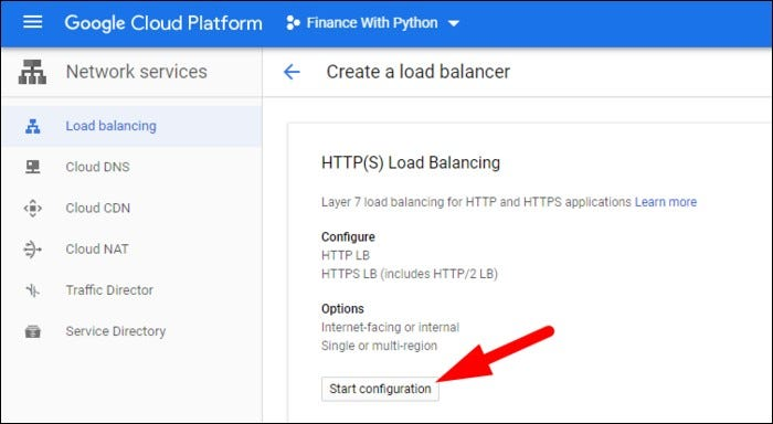 create new load balancer