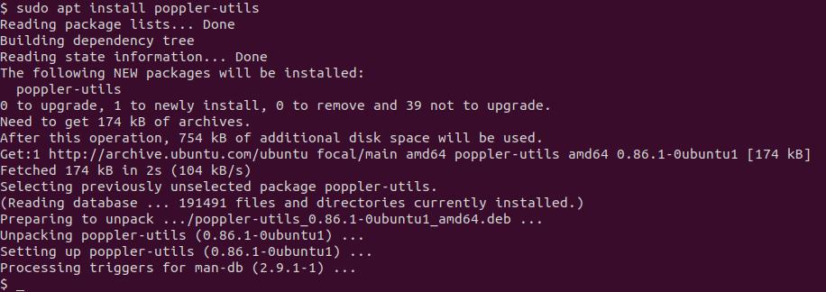 installing poppler-utils
