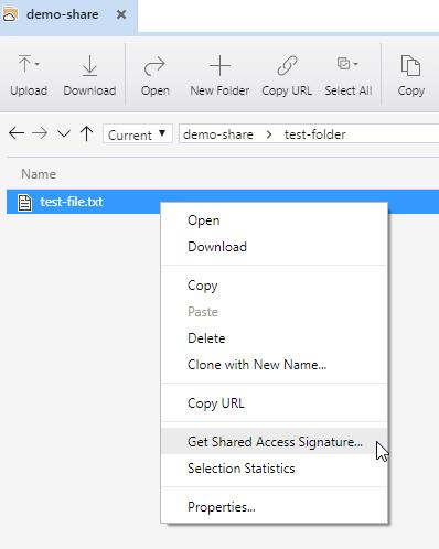 azure get shared access signature