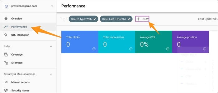 Add a new filter under the Perfomance tab.