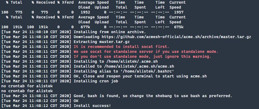Installing Acme.shc