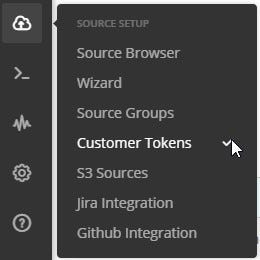 Source Setup > Customer Tokens to create a new customer token