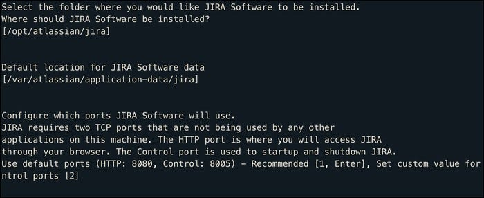 custom install jira