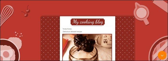 Sample cooking blog.