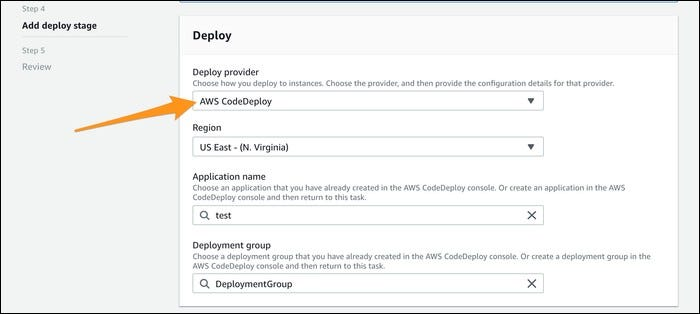 select codedeploy