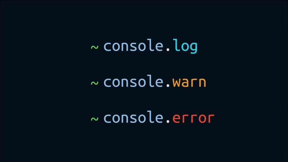 Illustration with JavaScript console log instructions