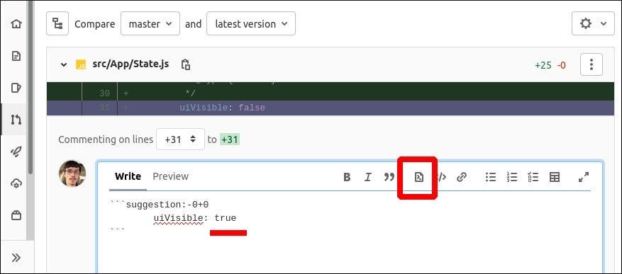 Pillanatkép a GitLab egyesítési kéréseiben szereplő javaslatokról