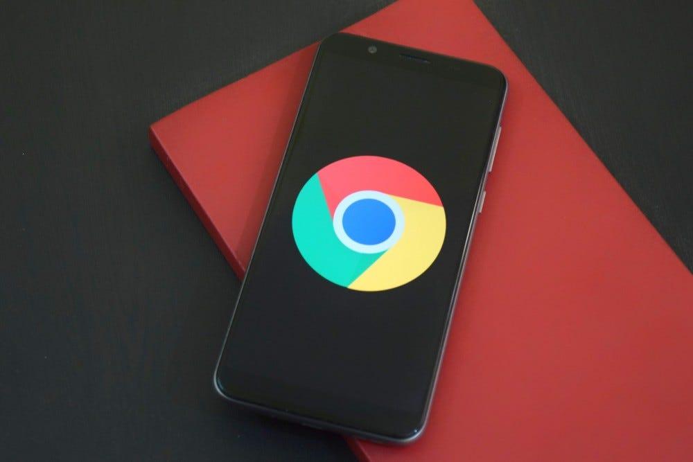 Photo of Google Chrome on a smartphone