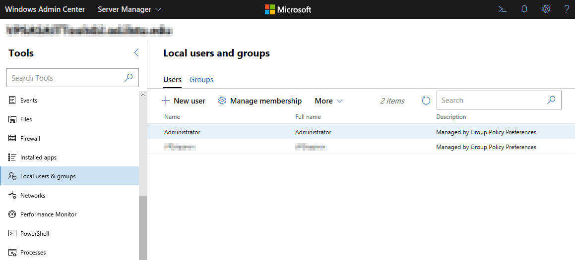 Managing the local users and groups that have access.