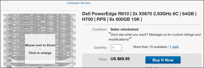 Very good server for only $70 on ebay