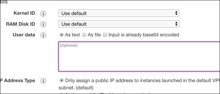 Specify a setup script