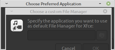 Specify the default file manager to use in Mint 20