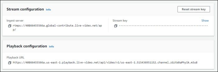 Stream and playback configuration.