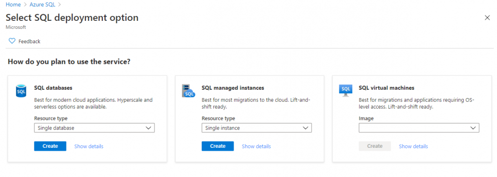 """Click on """"Create"""" to start the provisioning wizard."""