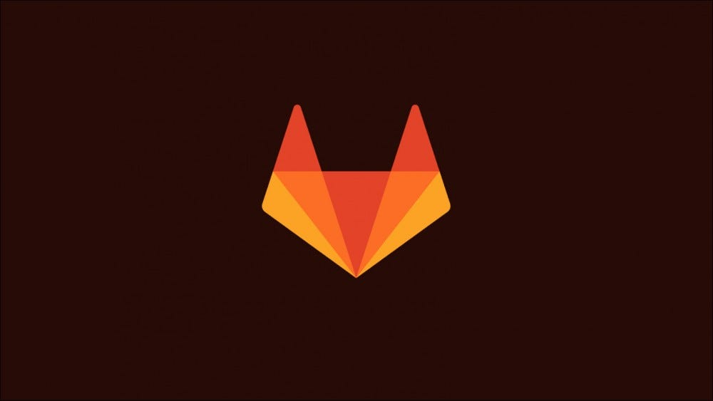 Image with the GitLab logo, a stylized fox head