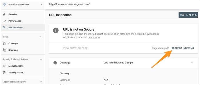 Url inspection