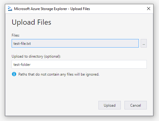 azure upload files
