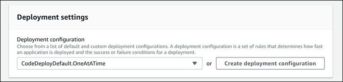 select a deployment configuration