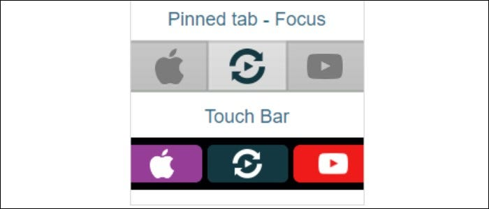 pinned tab focus touch bar