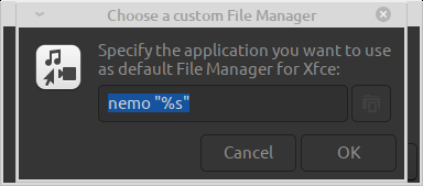 Automatic setting of variable required for link between file manager and opening entity