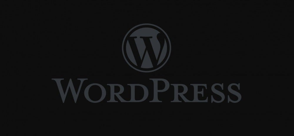 WordPress Logo Dark Mode