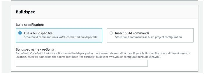 build spec file