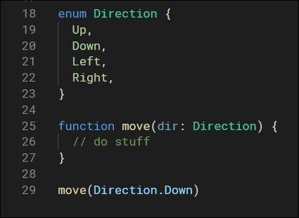 define custom type that allows specific value list using enum
