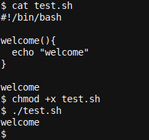 A simple Bash function