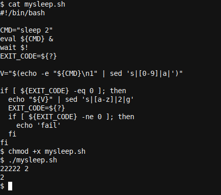 The same complex oneline in a full script instead
