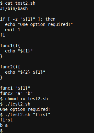 A more advanced Bash feature with variable passes