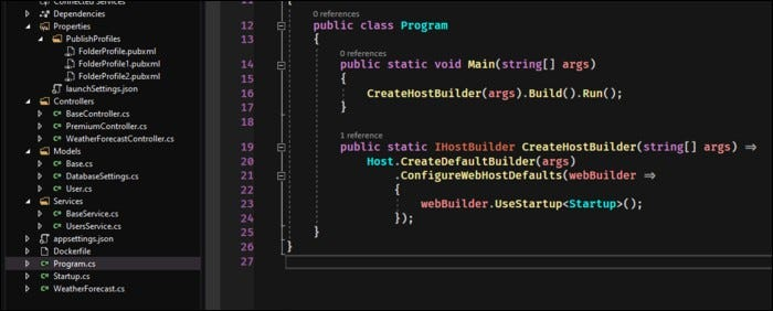 Create a new ASP.NET API application