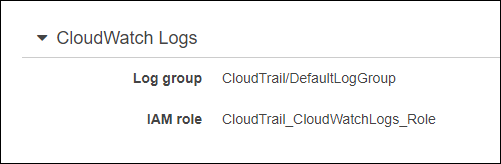cloudtrail log groups