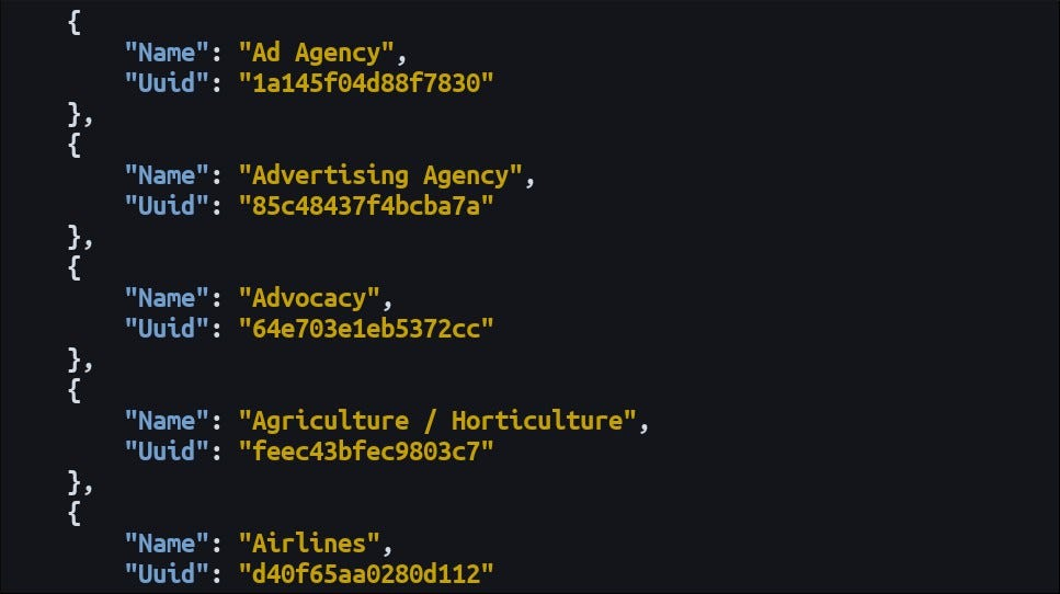 A HTTPie JSON kimenetének képernyőképe