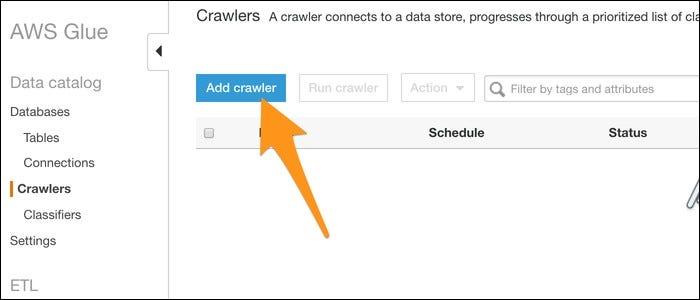Creating a crawler.