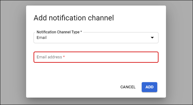 Setting up a notification channel.