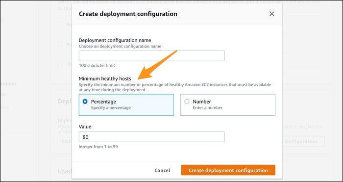 create new deployment configuration